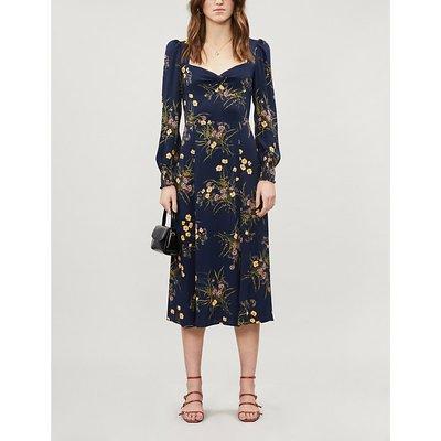 Wallflower floral-print crepe midi dress