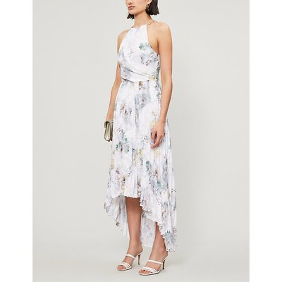 Daniiey Woodland-print chiffon maxi dress