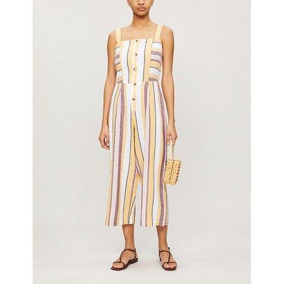 Sleeveless cotton jumpsuit