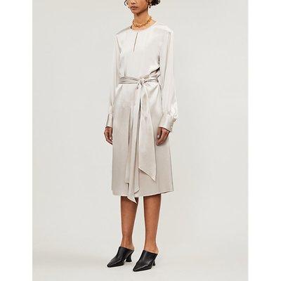 Victoria silk-satin midi dress