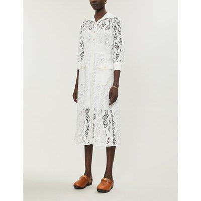 Zenali floral-lace midi dress