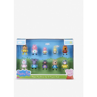 Peppa Pig Dress Up figures set of 10