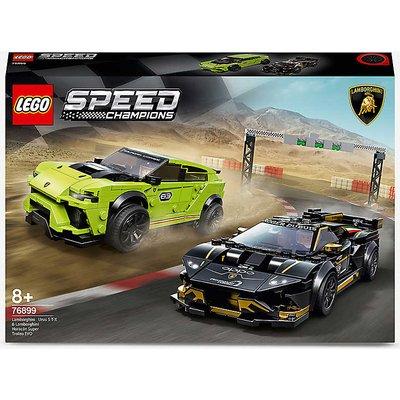 LEGO® Speed Champions 76899 Lamborghini Urus ST-X & Lamborghini Huracán Super Trofeo EVO play set