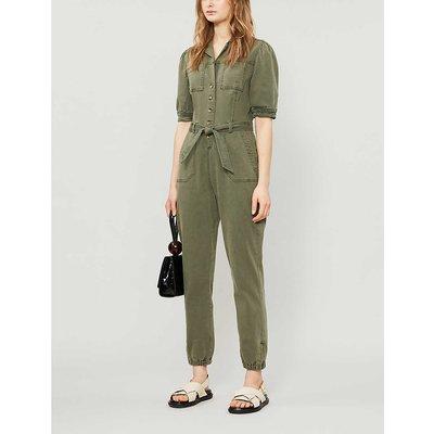 Mayslie stretch cotton-blend jumpsuit