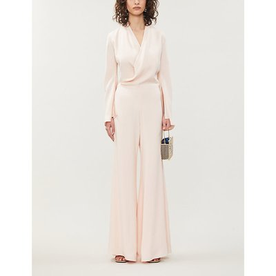 Betty wrap-over woven jumpsuit