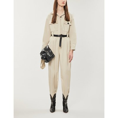 Relaxed-fit cotton jumpsuit