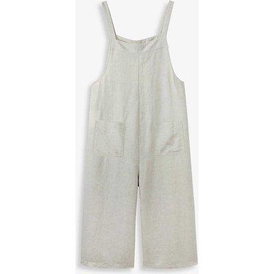 Sleeveless relaxed linen jumpsuit