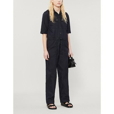 Catsy relaxed-fit cotton-blend jumpsuit