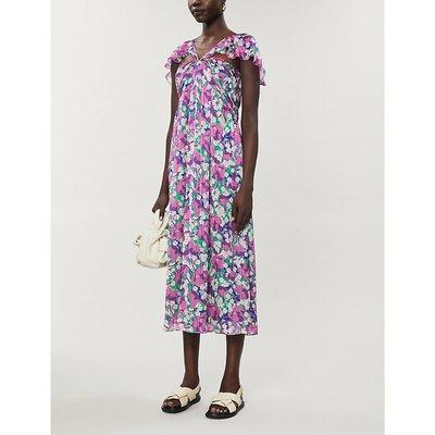Trilli floral-print crepe midi dress