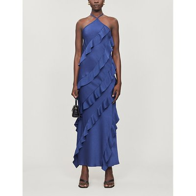 No Worries ruffled crepe maxi dress