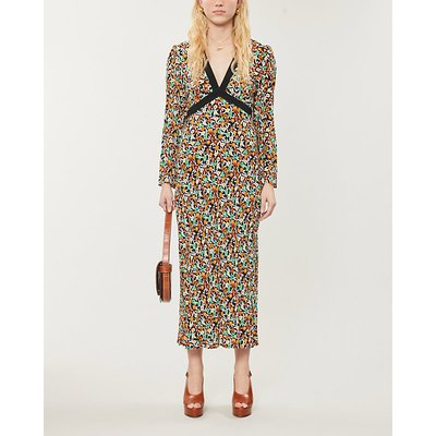 Tania floral-print crepe midi dress