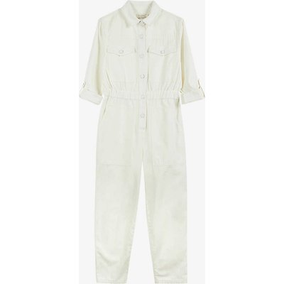 Perrla straight-leg cotton-twill jumpsuit