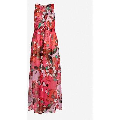 Honorr floral-print chiffon maxi dress