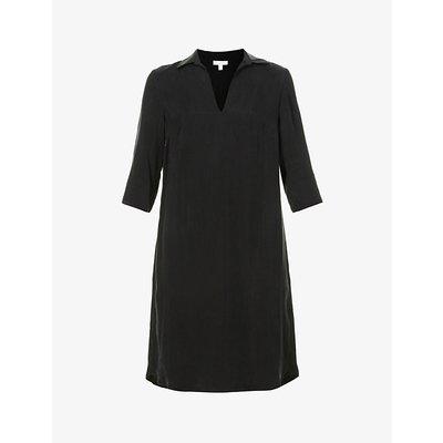 Cupro shift midi dress