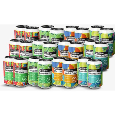 Two Tribes mixed beer cans pack of 24