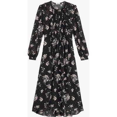 Rikki floral-print crepe midi dress