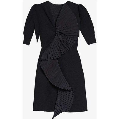 Evina ruffle-trimmed crepe dress