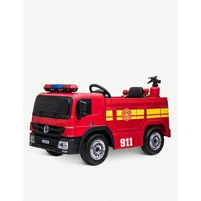 Ride-on battery-powered fire engine