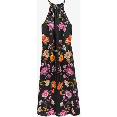 Rhubarb floral-print halterneck midi dress