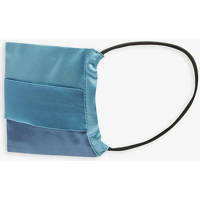 Pleated satin face covering