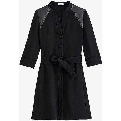 Rivabella tie waist crepe midi dress