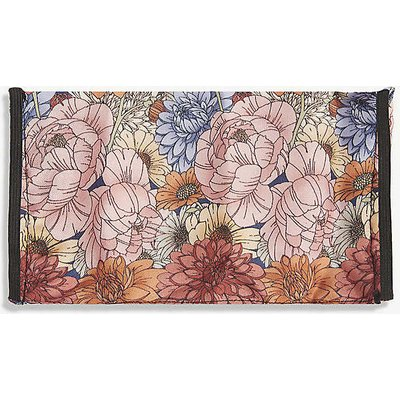 Emily Carter Ladies White Antique Floral-Print Silk Face Covering Mask