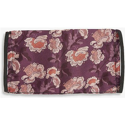 Emily Carter Ladies Purple and Pink Floral-Print Silk Face Covering Mask