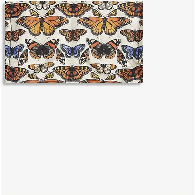 Emily Carter Ladies Cream Butterfly-Print Silk Face Covering Mask