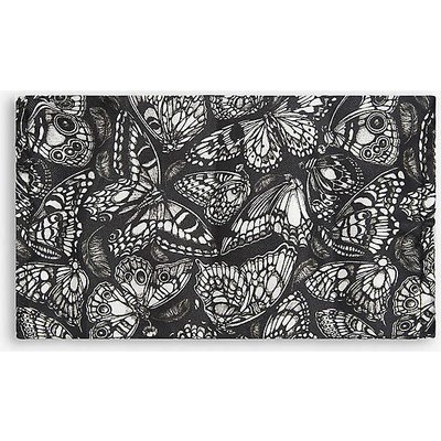 Emily Carter Ladies Black Butterfly-Print Silk Face Covering Mask