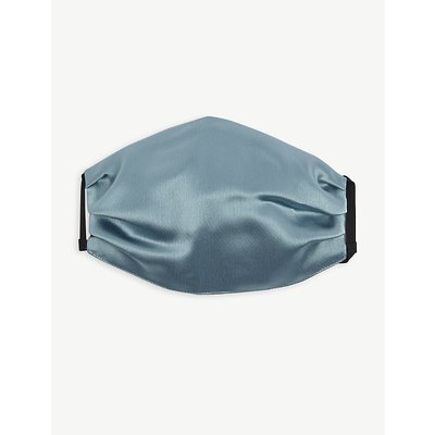 Unttld Ladies Aqua Blue Pleated Satin Face Covering Mask