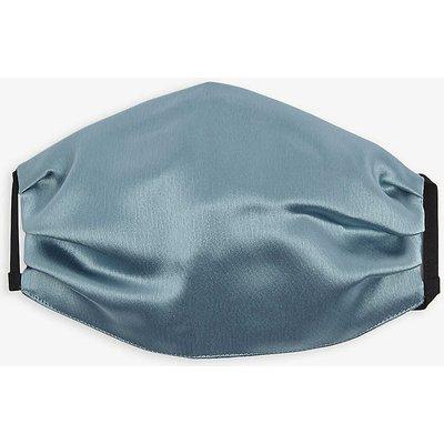 Unttld Ladies Aqua Blue Pleated Satin Face Covering Mask