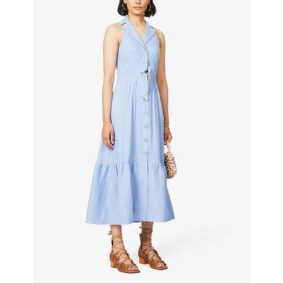 Sophia sleeveless linen-blend midi dress