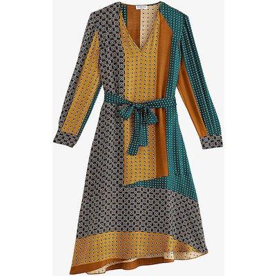 Rostant graphic print silk-crepe dress
