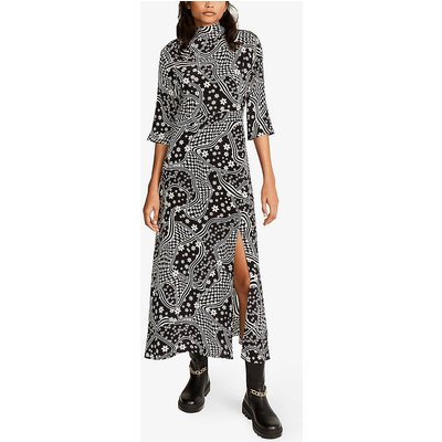 Rasa graphic-print crepe midi dress
