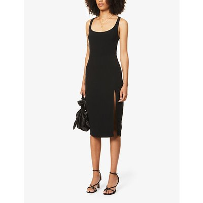Norton sleeveless crepe midi dress