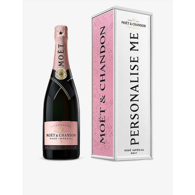 Exclusive Impérial Rosé NV Champagne and personalised tin 750ml
