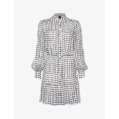 Coccobill 2 polka-dot print devoré satin dress