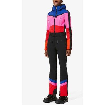 Pearl colour-block stretch-woven jumpsuit