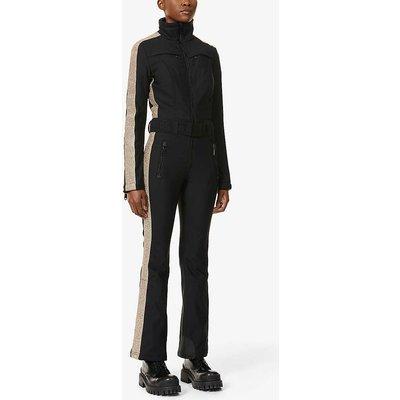 Elizabeth funnel-neck stretch-woven jumpsuit