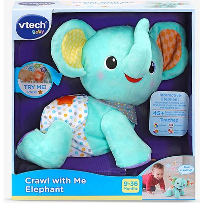Crawl With Me Elephant soft toy