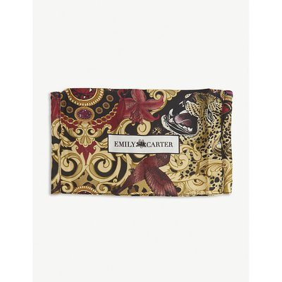 Baroque leopard-print silk face covering