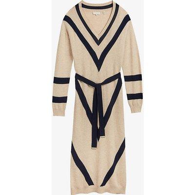 Berta wool-blend midi dress