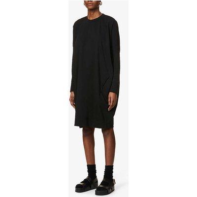 Dropped-shoulder organic-cotton midi dress
