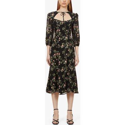 Poulter floral-print woven midi dress