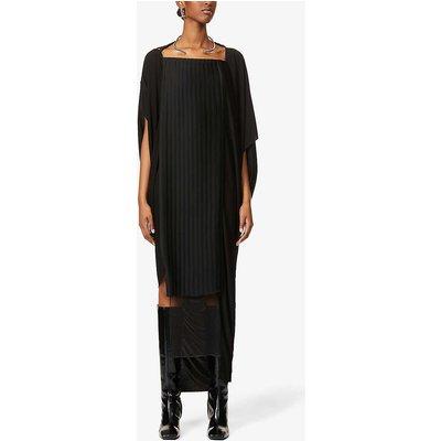 Redeemer pleated-panel crepe midi dress