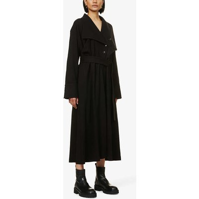 Filippa single-breasted woven midi dress