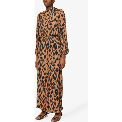 Saorse abstract-print wide-leg woven jumpsuit