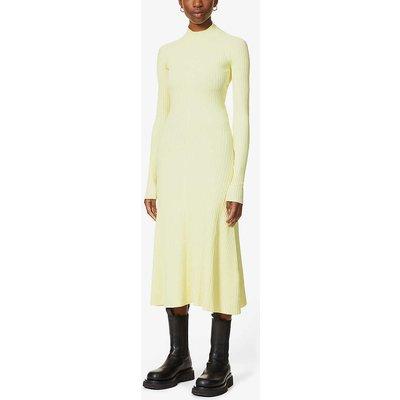 Ribbed open-back stretch-jersey midi dress