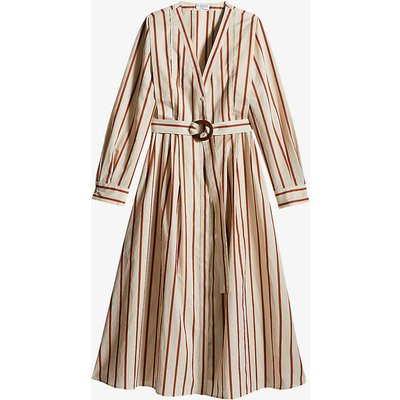 Rapsodie striped silk-blend midi dress