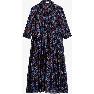Raleuse floral-print crepe midi dress
